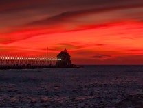 Photo of October Sunset at Grand Haven